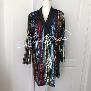 RAGA Charlize Sequin Blazer Dress NWT